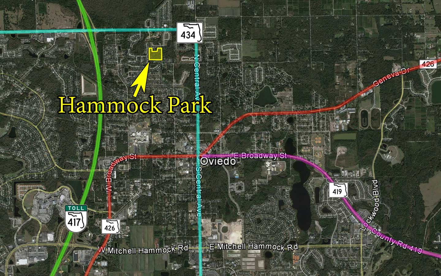 Hammock Park map